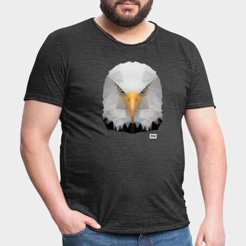 Eagle of Triangles white logo - Men's Vintage T-Shirt