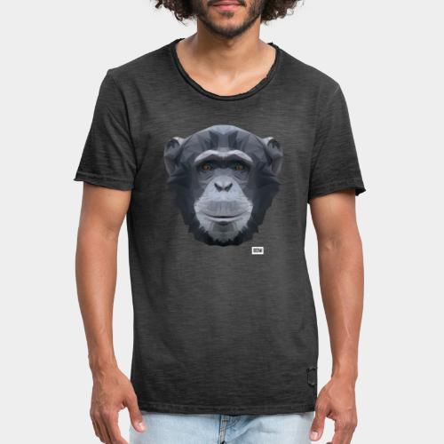 Chimpansee of Triangles white logo - Men's Vintage T-Shirt