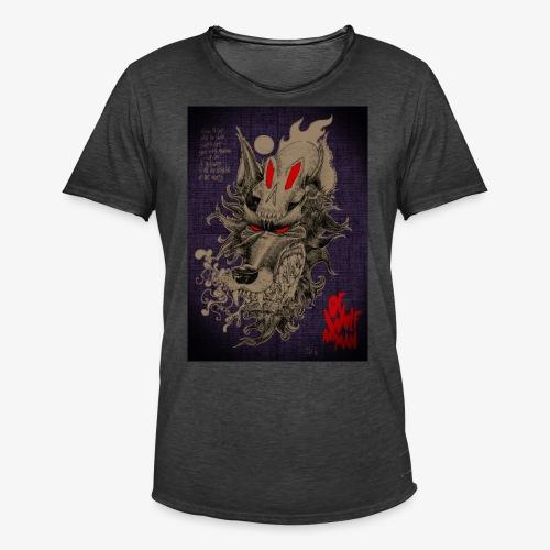 WOLF SKULL - T-shirt vintage Homme