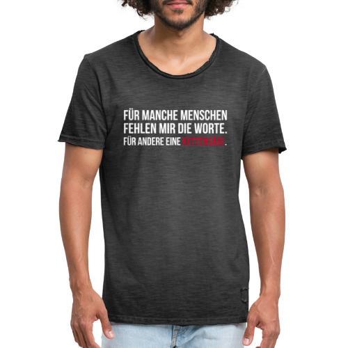 PSYCHO-Edition: Kettensäge Shirt - Männer Vintage T-Shirt
