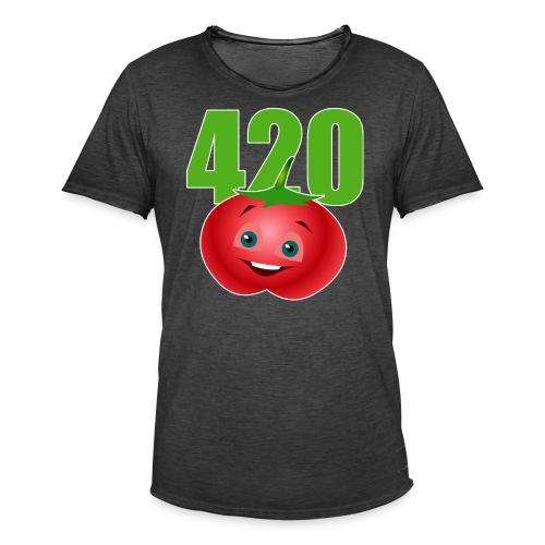 Tomate 420 - Männer Vintage T-Shirt