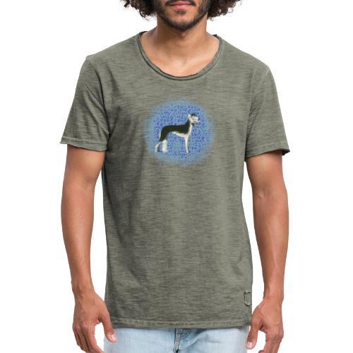 Saluki vor orientalischen Kacheln - Männer Vintage T-Shirt