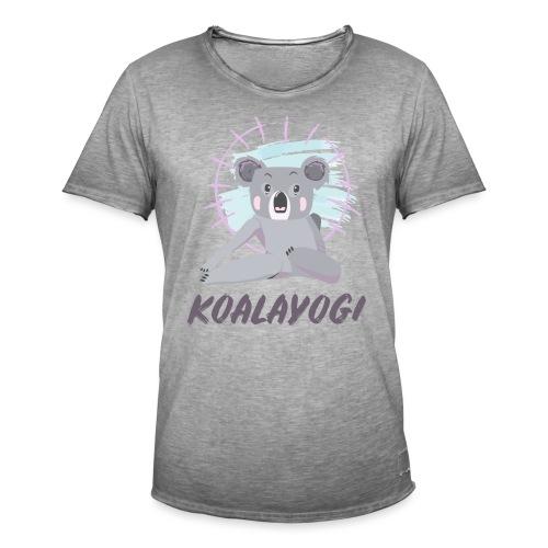 Koalayogi - Vintage-T-skjorte for menn