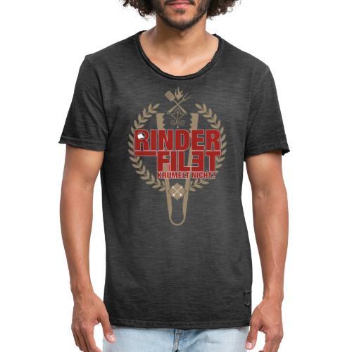 RINDERFILET KRÜMELT NICHT - Männer Vintage T-Shirt