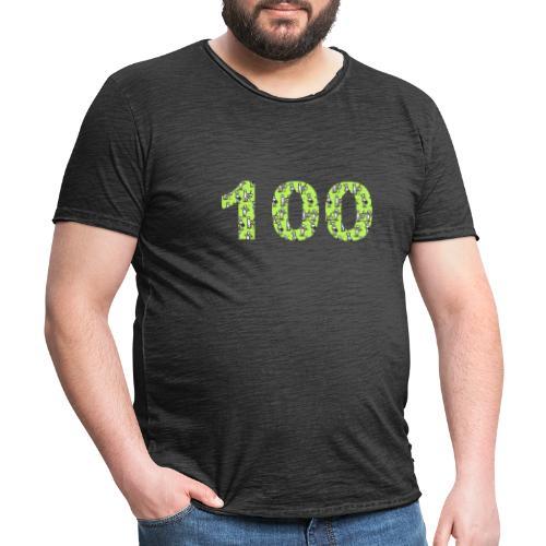 white man 100 followers - Maglietta vintage da uomo