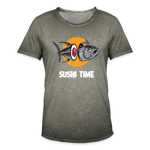 SUSHI TIME-tonno-b - Maglietta vintage da uomo