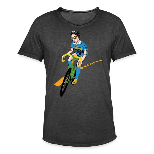 The Bicycle Girl - Männer Vintage T-Shirt