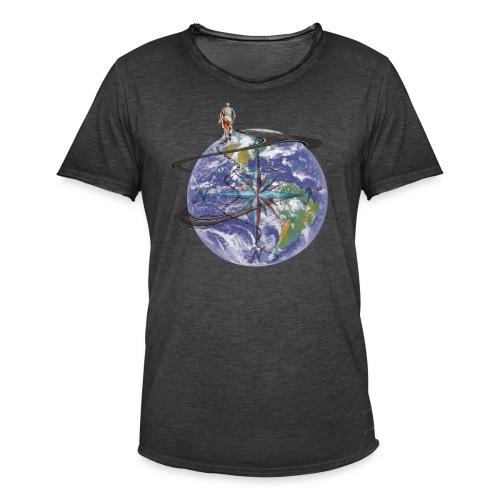 homme terre expression - T-shirt vintage Homme