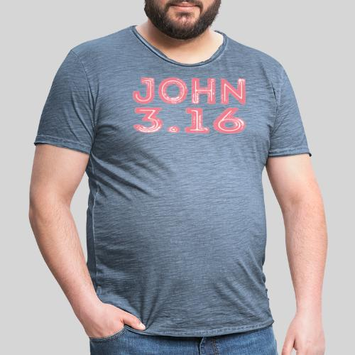 Johannes 3 Vers 16 Bibelversdesign - Männer Vintage T-Shirt