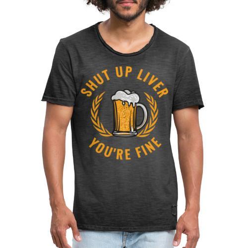 Beer Design - Miesten vintage t-paita