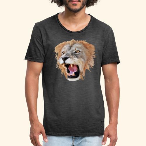 Tête de lion - T-shirt vintage Homme