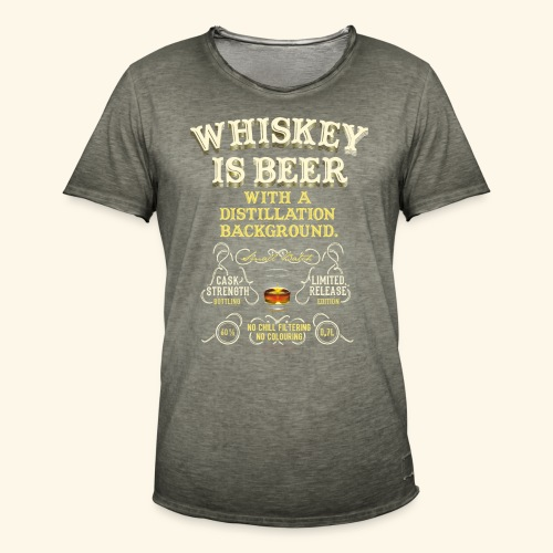 Whiskey Is Beer - Männer Vintage T-Shirt