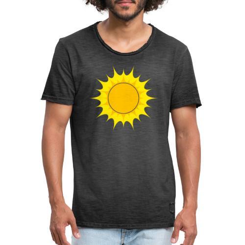 Sun / Sonne - Männer Vintage T-Shirt