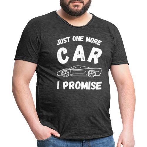 Just one more car, I promise - Vintage-T-skjorte for menn