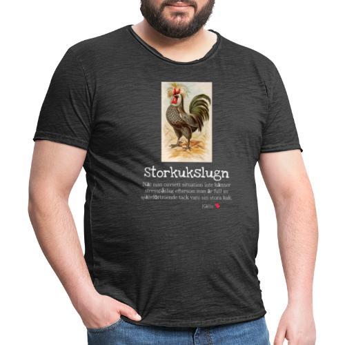 Storkukslugn - Vintage-T-shirt herr