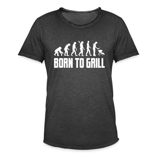 born to grill evolution - Männer Vintage T-Shirt