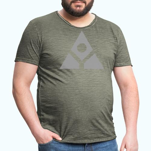 Sacred geometry gray pyramid circle in balance - Men's Vintage T-Shirt