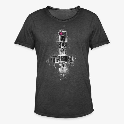 Spray Cross - Männer Vintage T-Shirt