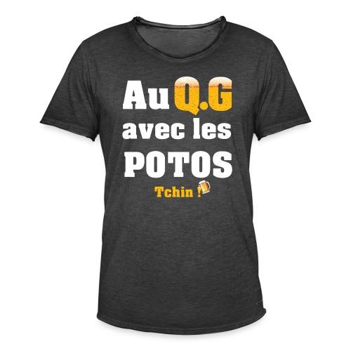 Tous au QG !!! - T-shirt vintage Homme