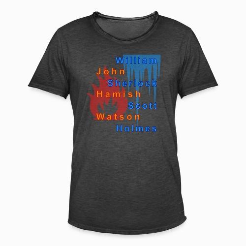 Feuer und Eis - Männer Vintage T-Shirt