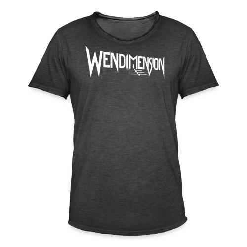 wendimension logo white - Miesten vintage t-paita