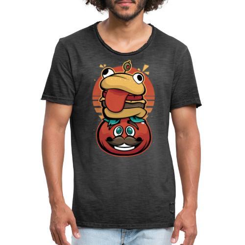 Hamburguesa con tomate - Camiseta vintage hombre
