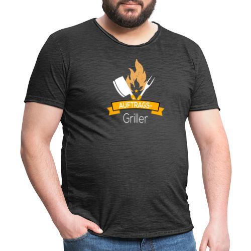 Auftragsgriller T Shirt - Männer Vintage T-Shirt