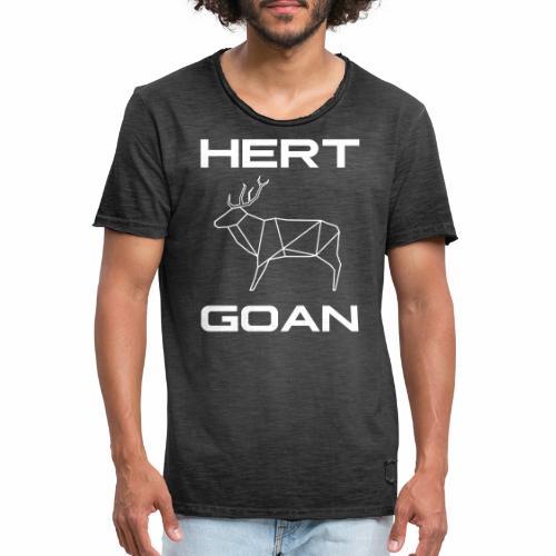 Hert Goan - Mannen Vintage T-shirt