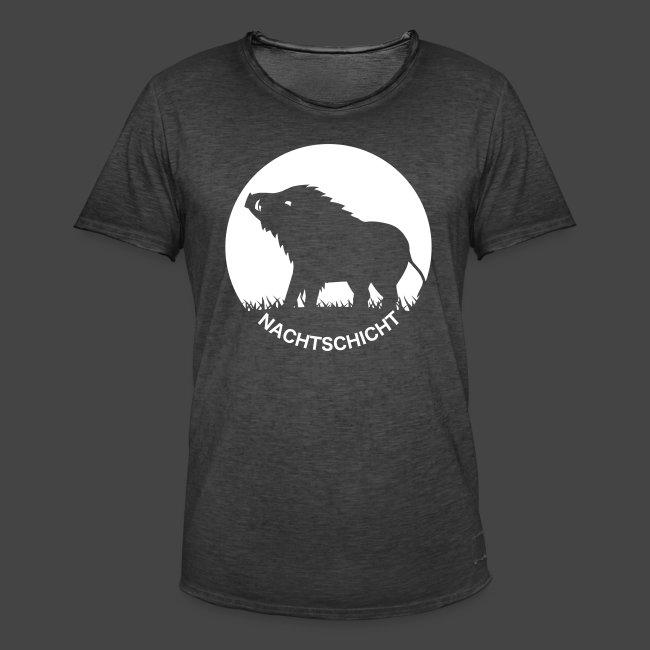 """""""Nachtschicht bei Schweinesonne""""-Shirt für Jäger"""