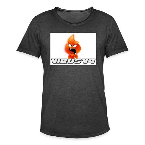 Virusv9 Weiss - Männer Vintage T-Shirt