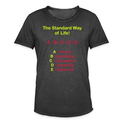 Rettungsdienst ABC Schema - Männer Vintage T-Shirt