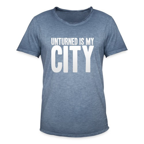 Unturned is my city - Men's Vintage T-Shirt