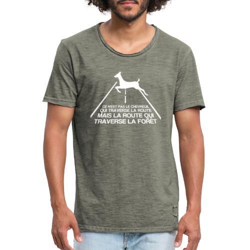 Chevreuil blanc - T-shirt vintage Homme