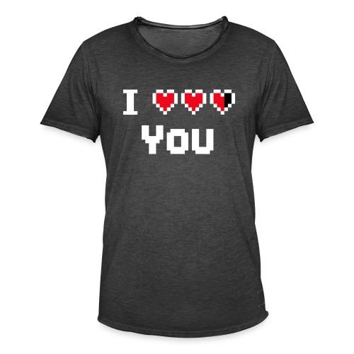 I pixelhearts you - Mannen Vintage T-shirt