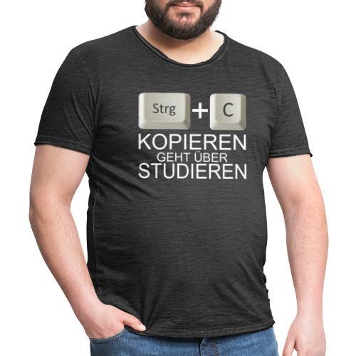 Kopiert - Weiß - Männer Vintage T-Shirt