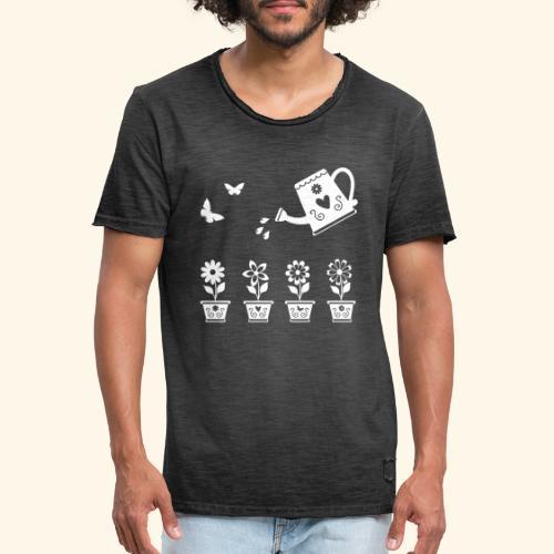 Regar las plantas - Camiseta vintage hombre