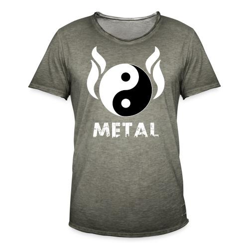 YIN YANG METAL - Männer Vintage T-Shirt