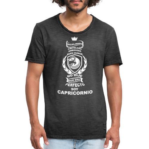 CAPRICORNIO - Camiseta vintage hombre