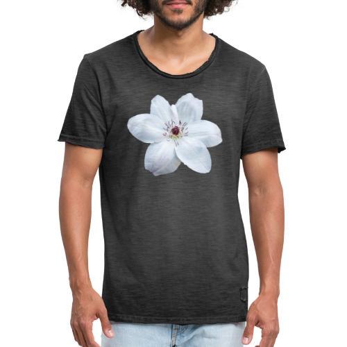 Jalokärhö, valkoinen - Miesten vintage t-paita
