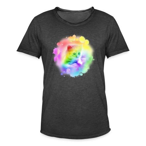 Rainbow Kitty - Men's Vintage T-Shirt