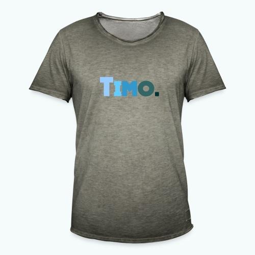 Timo in blauwe tinten - Mannen Vintage T-shirt