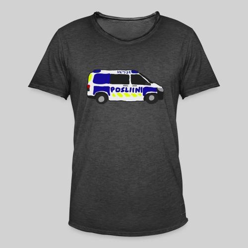 Posliini-Auto - Miesten vintage t-paita