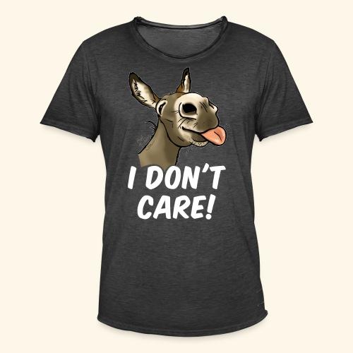 Ane I don't care! (texte blanc) - T-shirt vintage Homme