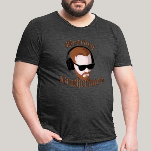 The Bearded Brotherhood w/ Text - Men's Vintage T-Shirt