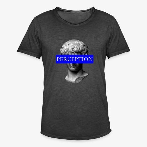 TETE GRECQ BLUE - PERCEPTION CLOTHING - T-shirt vintage Homme