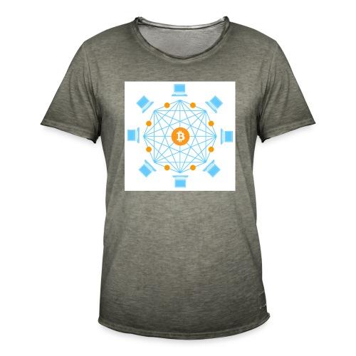 Blockchain - Miesten vintage t-paita