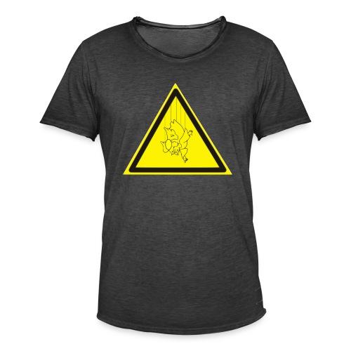 pericolo-caduta-santi - Maglietta vintage da uomo