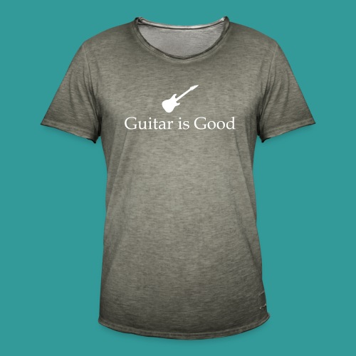 Guitar is Good Logo With Text - Men's Vintage T-Shirt