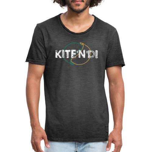 Front Kitesurf Passion White - Maglietta vintage da uomo