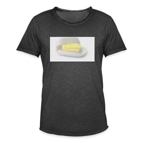 Le beurre - T-shirt vintage Homme